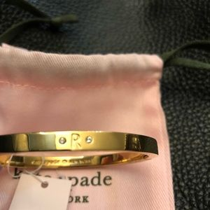 Kate spade one in a mullion initial R bangle